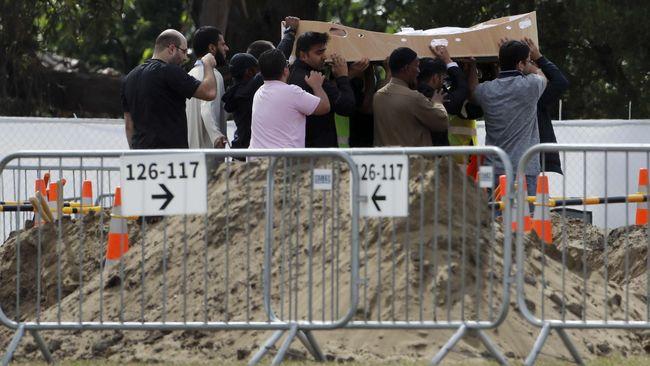 Teror Selandia Baru Image: FOTO: Peristirahatan Terakhir Korban Teror Di Selandia Baru
