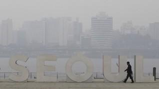 FOTO: Pekat Polusi Udara di Korsel Jadi Bencana Sosial