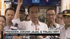 Presiden Jokowi Jajal dan Tinjau MRT