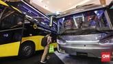 Busworld Southeast Asia 2019 diharapkan bisa mendongkrak pasar kendaraan komersial dalam negeri. (CNNIndonesia/Safir Makki)