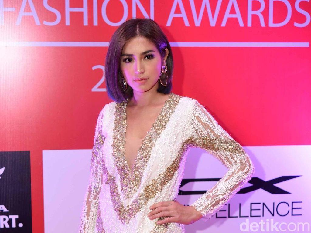 Jessica Iskandar saat ditemui di acara Insert Fashion Awards 2019 di Ciputra Artpreneur, Jakarta Selatan pada Rabu (20/3) malam. Foto: (Noel/detikHOT)