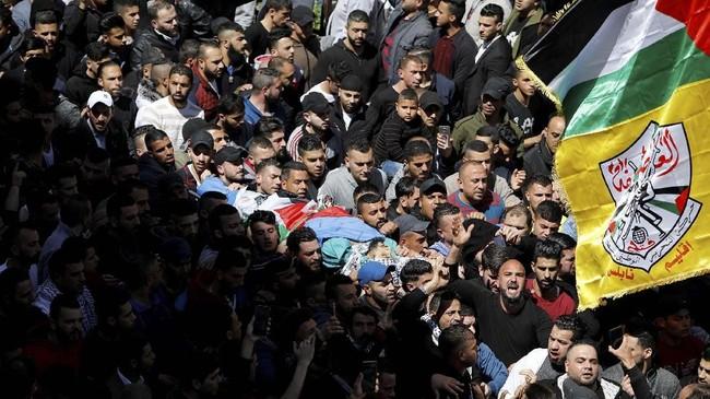 Kematian Manasara terjadi sehari setelah dua warga Palestina tewas dalam bentrokan di Nablus menyusul ketegangan di Tepi Barat yang kian meningkat menjelang pemilu Israel pada 9 April mendatang. (Reuters/Mohamad Torokman)