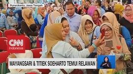 Mayangsari & Titiek Soeharto Temui Relawan, Mega Ziarah