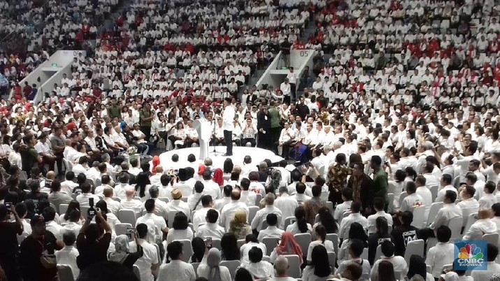 10.000 pengusaha mendukung pasangan calon Presiden dan Wakil Presiden nomor urut 01 Joko Widodo-Ma'ruf Amin.