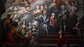 Lukisan yang terpajang merupakan karya Thornhill mengenai situasi Inggris kala itu. (REUTERS/Dylan Martinez)