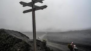 FOTO: Kesibukan di Tengah Aktivitas Vulkanis Bromo