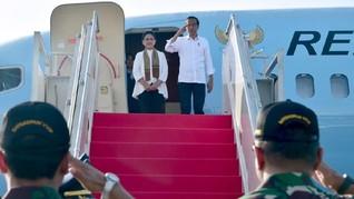 Terbang ke Sulut, Jokowi Tinjau Infrastruktur Pariwisata