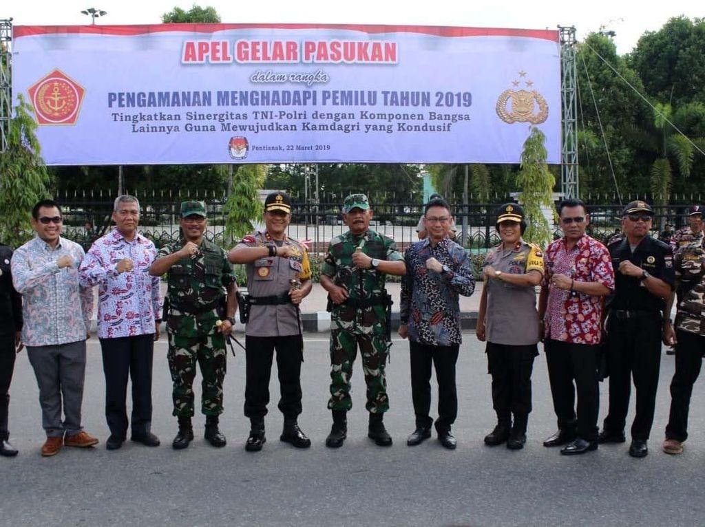 Adapun bertema Tingkatkan Sinergitas TNI-Polri dengan Komponen Bangsa Lainya Guna mewujudkan Kamdagri yang Kondusif. Pool/Puspen TNI.