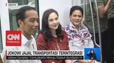Jokowi Jajal Transportasi Terintegrasi