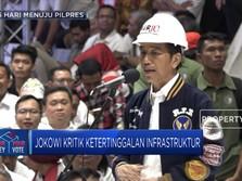 Jokowi Kritisi Ketertinggalan Infrastruktur Indonesia