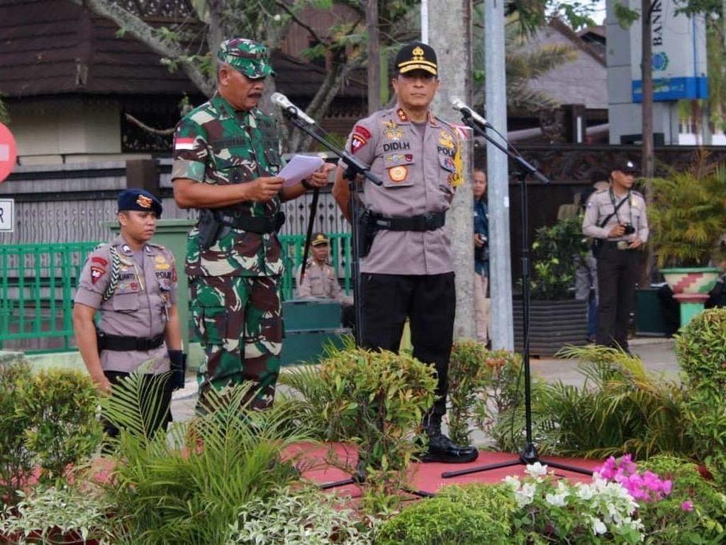 Apel Kesiapan Pengamanan Pemilu 2019 di Pontianak