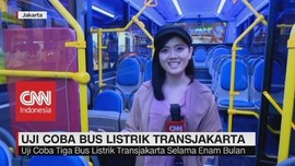 Uji Coba Bus Listrik Transjakarta