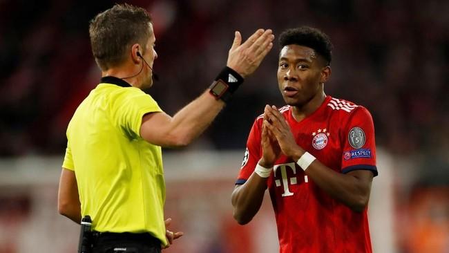 Bek kiri Bayern Munchen David Alaba dalam wawancara dengan Bild mengaku tertarik bergabung dengan klub Liga Inggris Arsenal. (Reuters/Andrew Boyers)