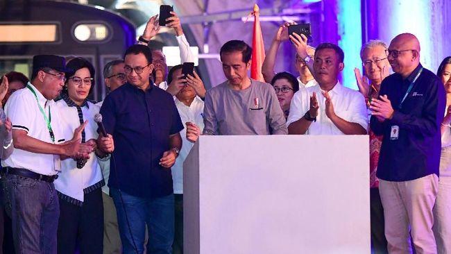 Jokowi Resmikan MRT di Bundaran HI