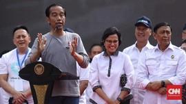 Jokowi Ajak Warga Tunjuk Jari saat Resmikan MRT