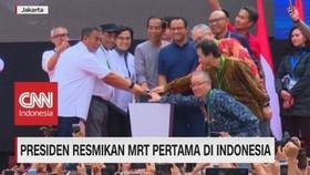 Presiden Resmikan MRT Pertama di Indonesia