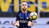 Menurut calciomercato, Manchester City memiliki hasrat untuk mendatangkan Milan Skriniar dari Inter Milan. (REUTERS/Alberto Lingria)