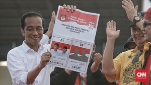 Jokowi: Kita Semua ke TPS Berbondong-bondong Berbaju Putih