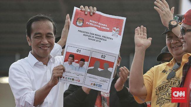 Jokowi Ajak Warga Coblos Paslon Berbaju Putih di Surat Suara
