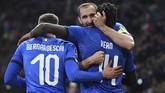 Timnas Italia meraup tiga poin perdana di grup J. Laga Italia berikutnya adalah menghadapi Liechtenstein. (REUTERS/Jennifer Lorenzini)