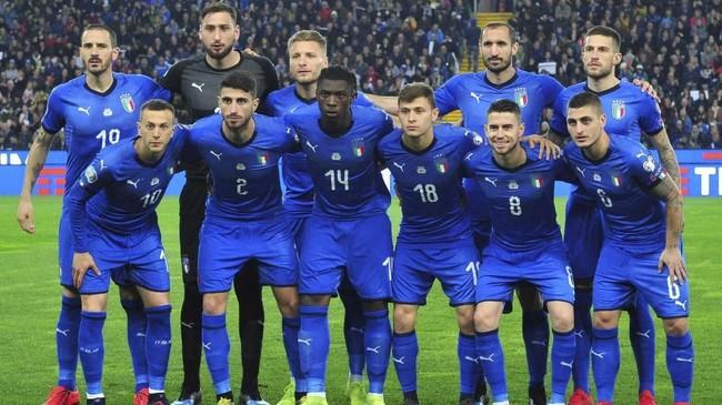 Timnas Italia menjalani laga perdana kualifikasi Piala Eropa 2020 dengan menghadapi Finlandia. (REUTERS/Jennifer Lorenzini)