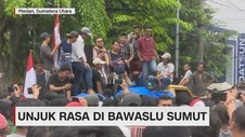 Unjuk Rasa di Bawaslu Sumut