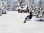 Menjajal Ski Lift Chair & Hamparan Salju di Trans Snow