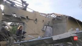 VIDEO: Serangan Roket dari Gaza Hantam Rumah di Israel