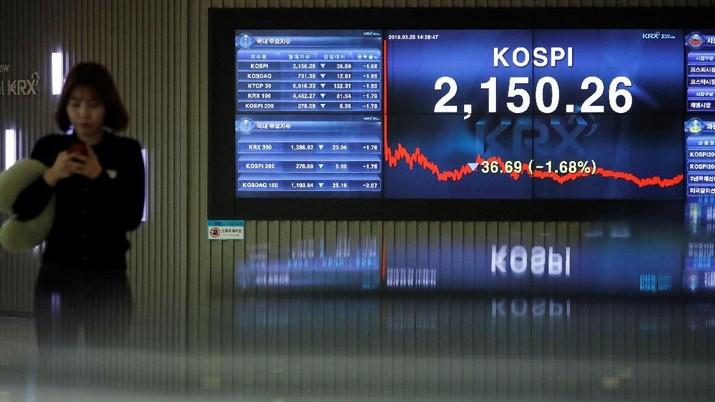 Mayoritas bursa saham utama kawasan Asia menutup perdagangan hari ini di zona hijau.