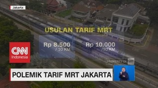 Polemik Tarif MRT Jakarta