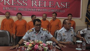 Pakai Visa Kunjungan, 6 WN China Bekerja di Tambang Gorontalo