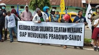 Perantau Sulsel Gelar Aksi Dukung Prabowo-Sandi di Merauke
