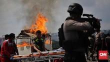 FOTO: Simulasi Siaga Hadapi Konflik di Hari Pencoblosan