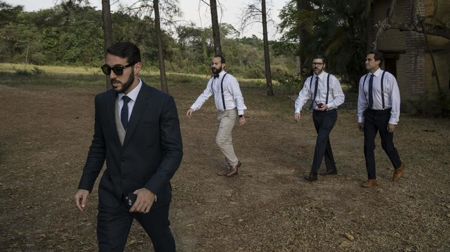 Pesta pernikahan seorang pengusaha Venezuela, Jose Pocaterra, dan mantan Miss Universe, Maria Fernanda Vera, digelar di resor mewah di daerah pedesaan. (AP Photo/Rodrigo Abd)