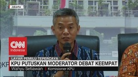 KPU Putuskan Moderator Debat Keempat