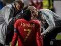 FOTO: Detik-detik Cristiano Ronaldo Alami Cedera