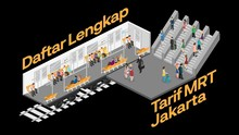 INFOGRAFIS: Daftar Lengkap Tarif MRT Jakarta