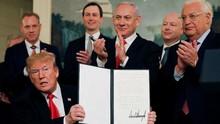 Didampingi Netanyahu, Trump Klaim Golan Milik Israel