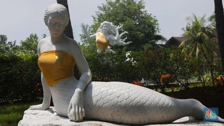 Tampil Dengan Kemben, Patung Putri Duyung di Ancol Viral