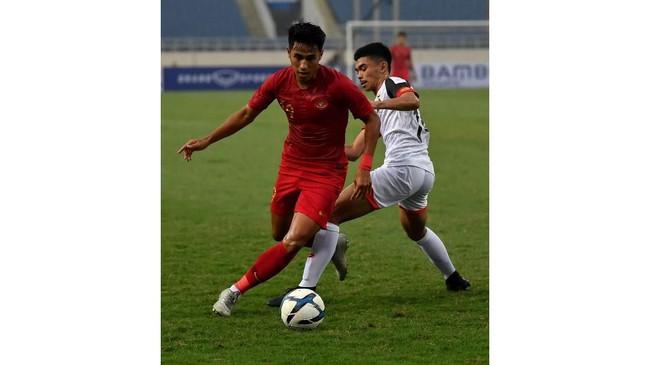 Hanif Sjahbandi menjadi salah satu pemain cadangan Timnas Indonesia U-23 yang mendapat kesempatan bermain melawan Brunei. (ANTARA FOTO/R. Rekotomo)