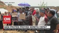 Aksi Protes Warga terkait Proyek Kereta Cepat Jakarta-Bandung