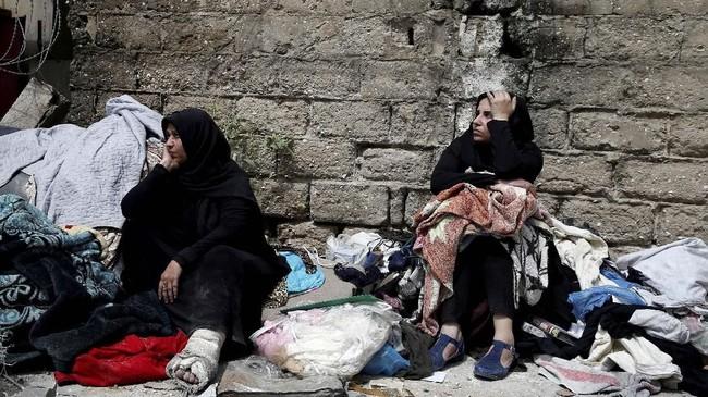 Militer Israel juga menuturkan pesawat tempur mereka telah meluncurkan serangan ke sejumlah basis Hamas di Gaza. (REUTERS/Mohammed Salem)