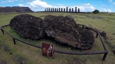 'Wajah' patung-patung batu yang menjadi 'penjaga' garis pantai di Easter Island alias Rapa Nui, sebuah pulau terpencil di Polinesia, akan berubah 100 tahun mendatang. (REUTERS/Jorge Vega)