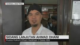 Sidang Lanjutan Ahmad Dhani, Hadirkan 3 Saksi Ahli