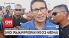 Jokowi Janji Jalur KA di Kalimantan, Sandi Janjikan OKE OCE