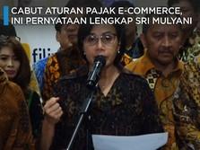 Ini Pernyataan Sri Mulyani Batalkan Aturan Pajak e-Commerce