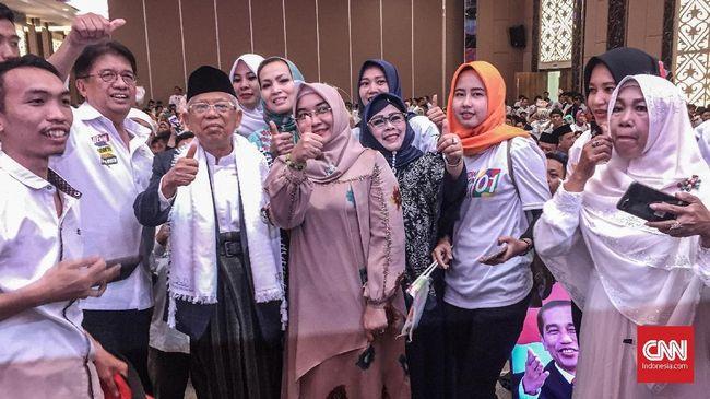 Didukung Mahasiswa Palembang, Ma'ruf Janjikan Pembangunan SDM
