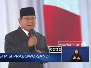 Prabowo Sebut Korupsi Sudah Stadium 4