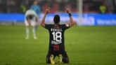 Menyusul kepergian Lucas Hernandez yang pindah ke Bayern Munchen musim depan, Atletico Madrid diklaim AS tertarik mendapatkan bek kiri Bayer Leverkusen Wendell. (Patrik STOLLARZ / AFP)