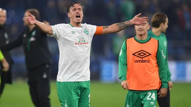 Penyerang Werder Breman Max Kruse diklaim sengaja tidak memperpanjang kontrak demi meninggalkan klub akhir musim ini. Tottenham Hotspur dan Inter Milan dikabarkan Sky Sports Jerman tertarik mendapatkan Kruse. (Patrik STOLLARZ / AFP)